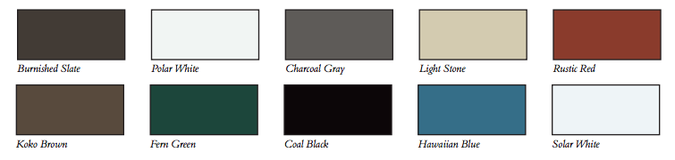 metal roofing colors pittsburgh